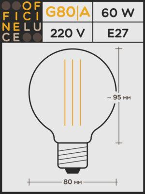 Lampadina a Filamento #G80|A