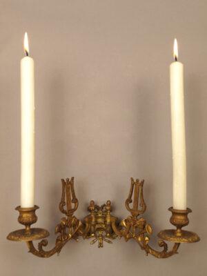 Candeliere da Pianoforte in Ottone #2173